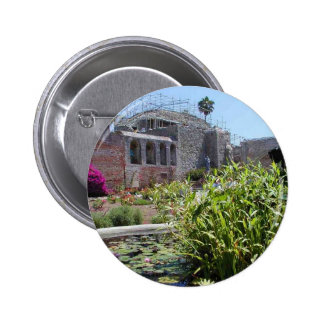 Mission Capistrano Church Construction Walls Fount Pinback Buttons