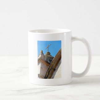 Mission church tower and cross mug