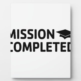 Mission Completed Plaque