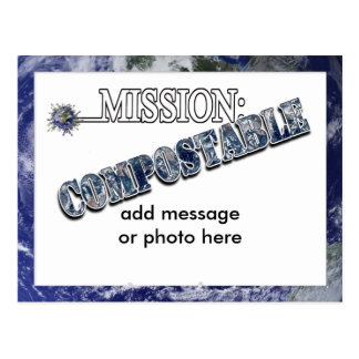 Mission: COMPOSTABLE (1) Postcard