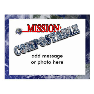 Mission: COMPOSTABLE (3) Postcard