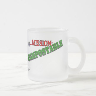Mission: COMPOSTABLE (4) 10 Oz Frosted Glass Coffee Mug