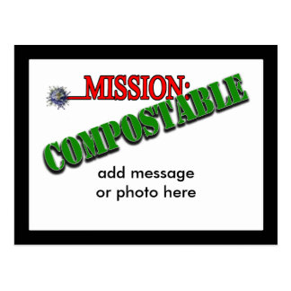 Mission: COMPOSTABLE (4) Postcard