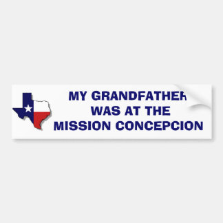 MISSION CONCEPCION BUMPER STICKER