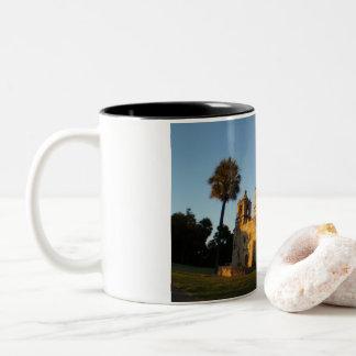 Mission Concepcion, San Antonio, Texas Two-Tone Coffee Mug