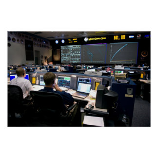 Mission Control Center Poster