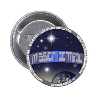 Mission Control Pinback Button