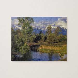 Mission Creek runs through the National Bison Jigsaw Puzzle