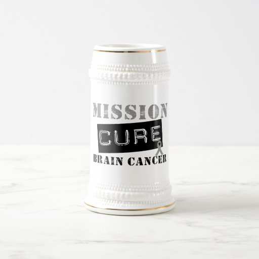 Mission Cure Brain Cancer 18 Oz Beer Stein
