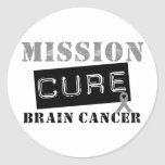 Mission Cure Brain Cancer Sticker