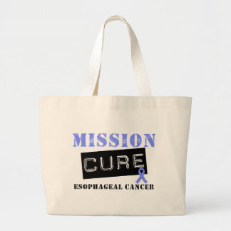 Mission Cure Esophageal Cancer Large Tote Bag