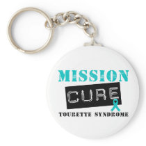 Mission Cure Tourette Syndrome Keychain