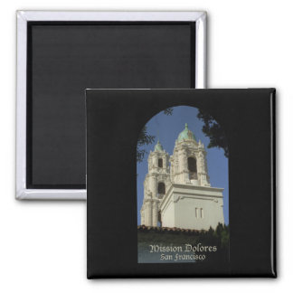 Mission Dolores 2 Inch Square Magnet