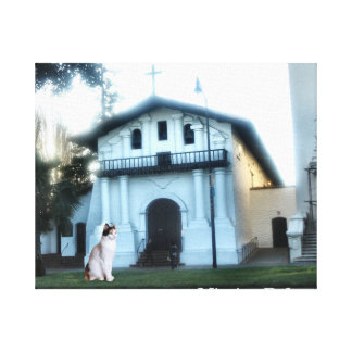 Mission Dolores Cat Canvas Print