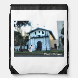Mission Dolores Cat Drawstring Backpack