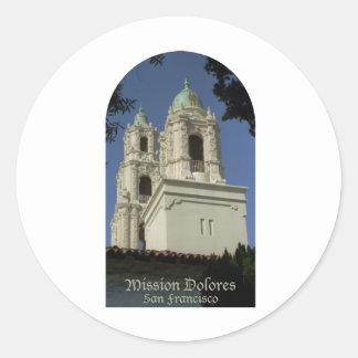 Mission Dolores Classic Round Sticker
