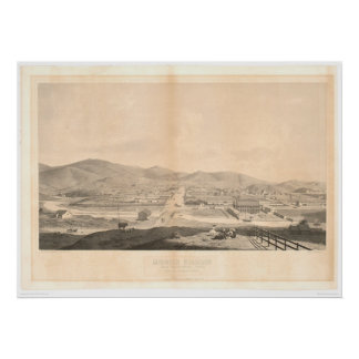 Mission Dolores, San Francisco 1860 (1097A) Posters