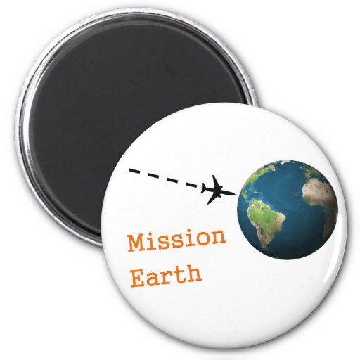 mission earth 2 inch round magnet