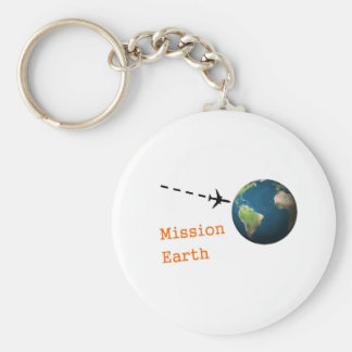 mission earth basic round button keychain