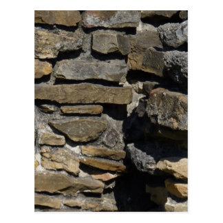 Mission Espada Rock Wall Postcard