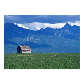 "Mission Mountains, Flathead Valley, Montana, USA 5"" X 7"" Invitation Card"
