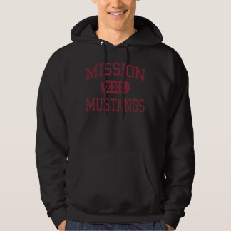 Mission - Mustangs - Middle - Riverside California Hooded Pullover