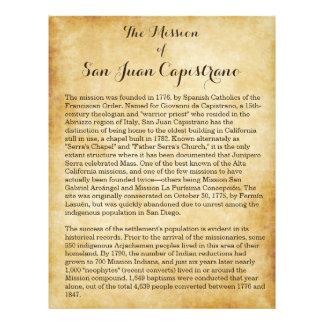 Mission of San Juan Capistrano Flyer