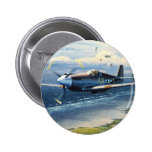 Mission Over Normandy by William S. Phillips Pinback Button