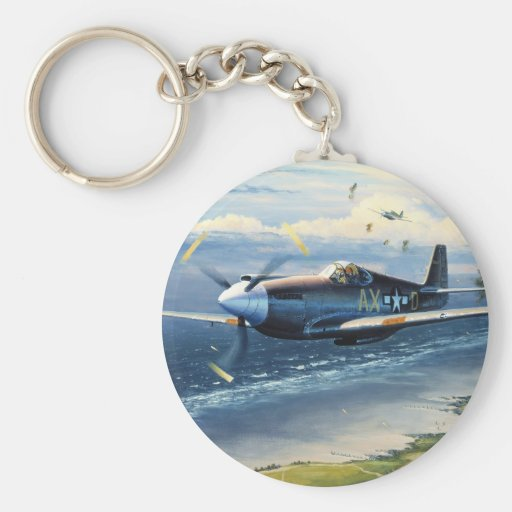Mission Over Normandy by William S. Phillips Keychains