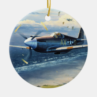 Mission Over Normandy by William S. Phillips Christmas Ornaments