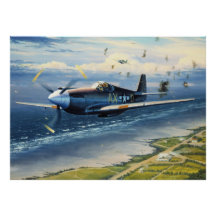 Mission Over Normandy by William S. Phillips Poster