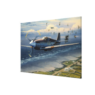 Mission Over Normandy by William S. Phillips Print Canvas Print