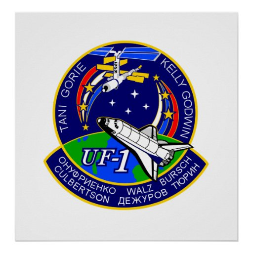 Mission Patch of NASA STS-108 Shuttle Poster
