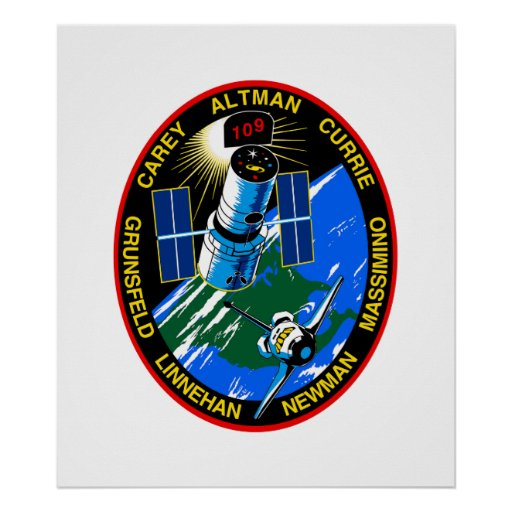 Mission Patch of the STS-109 Shuttle Mission - 200 Poster