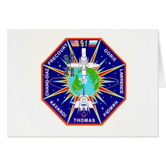 Mission Patch of the STS-91 Shuttle Mission - 1998 Card