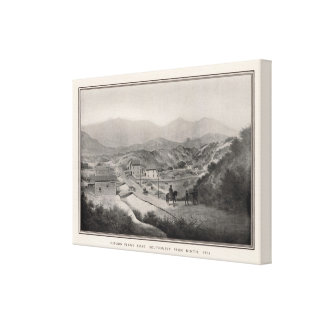 Mission Plank Road, Southwest fron Ninth, 1856 Canvas Print