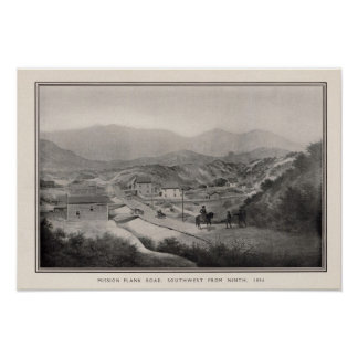 Mission Plank Road, Southwest fron Ninth, 1856 Posters