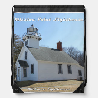Mission Point Lighthouse: Drawstring Backpack