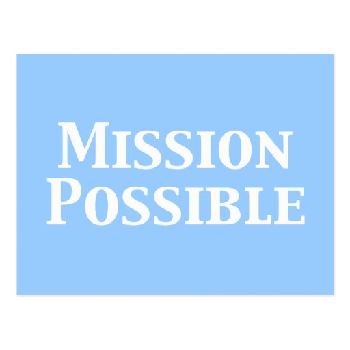Mission Possible Gifts Postcard