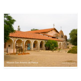 Mission San Antonio de Padua California Products Postcard