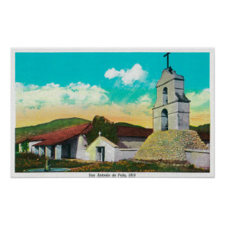 Mission San Antonio de PalaPala, CA Poster