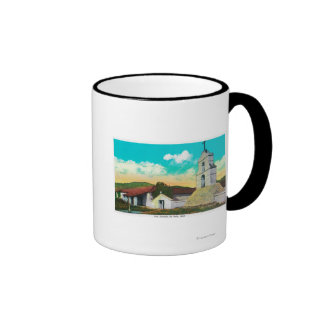 Mission San Antonio de PalaPala, CA Ringer Coffee Mug