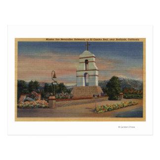Mission San Bernardino Asistencia Postcard