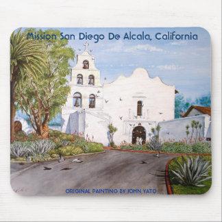 MISSION SAN DIEGO DE ALCALA, CALIFORNIA MOUSE PAD