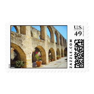 Mission San Jose convent arches, San Antonio, TX Postage Stamp