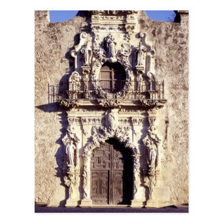 Mission San Jose, Texas - elaborate front facade Postcard