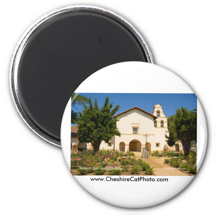Mission San Juan Bautista California Products 2 Inch Round Magnet
