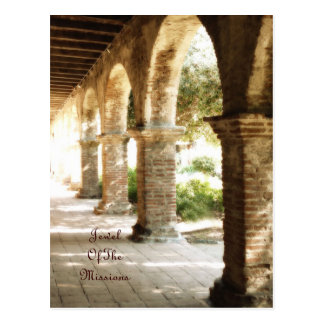 Mission San Juan Capistrano Arches Postcard