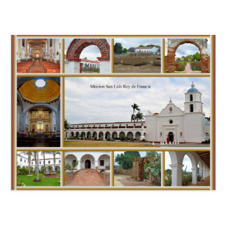 Mission San Luis Rey Postcard
