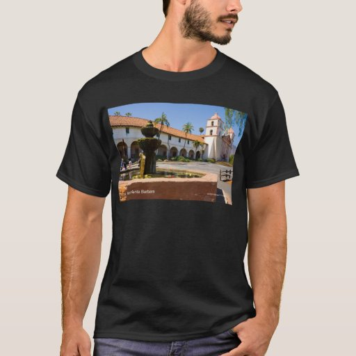 Mission santa barbara california products t shirt zazzle for T shirt printing santa barbara